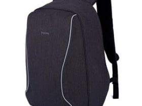 Black Super Light Backpack with white lines