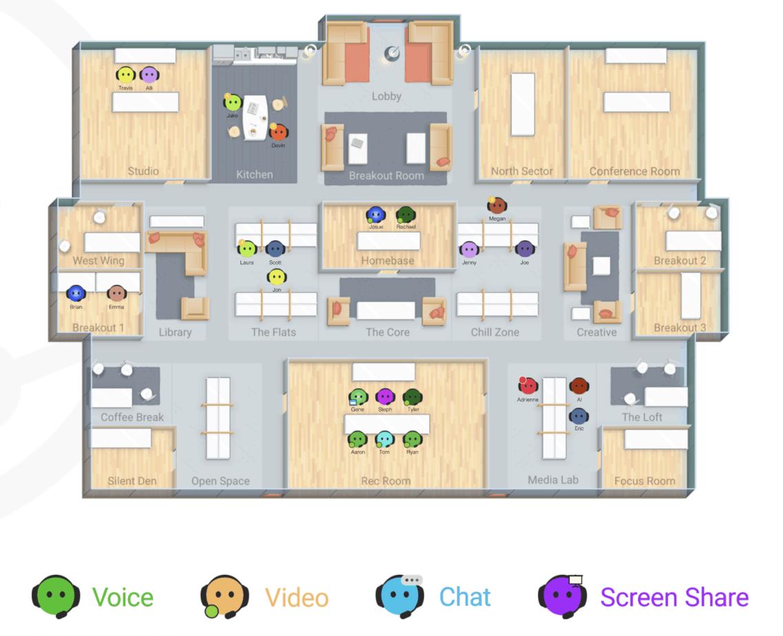 Sococo VIrtual Office Screenshot