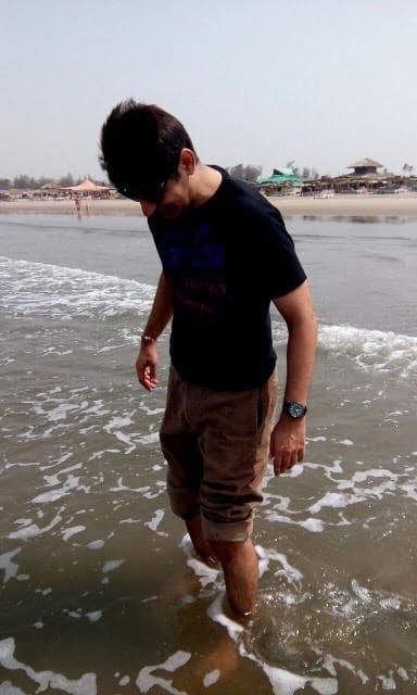 Ashish on the beach