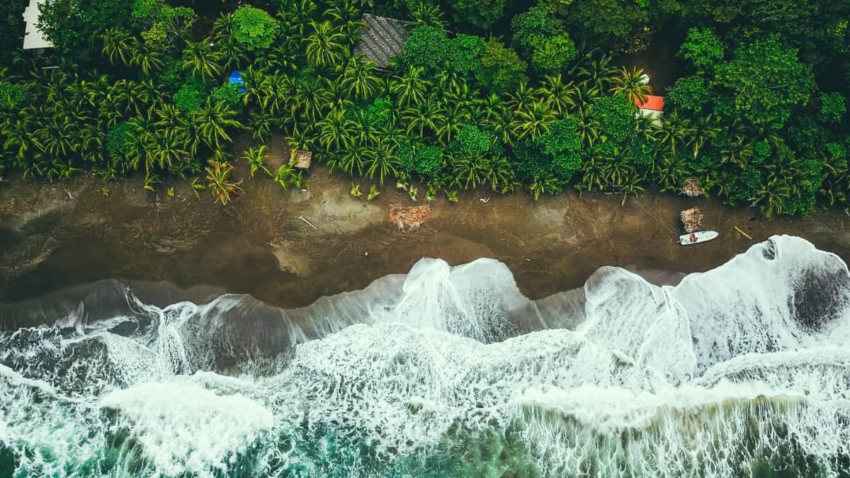 Panama overhead beach