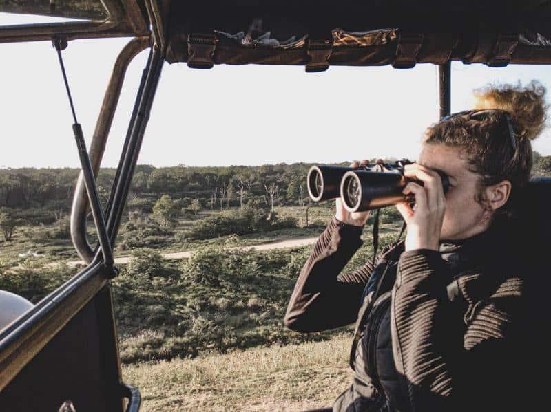 Melissa Giroux on a safari
