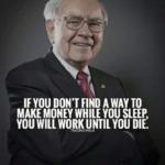 Warren Buffett's portrait with quote