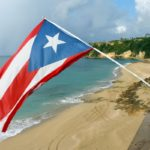 A Big Puerto Rican Flag in a beach house